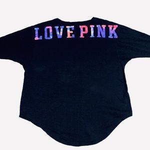 Victoria Secret Pink V-Neck Rainbow Campus Sz L